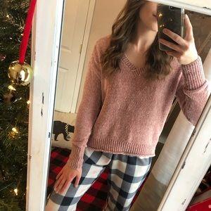 Soft Pink Sweater — Women's XS